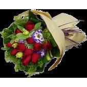 Eleven Roses Bouquet Round Shape
