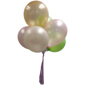 Assorted Helium Latex Balloons x 6