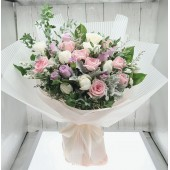 Three Tone Roses Bouquet