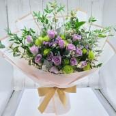Purple Queen , Eighteen Purple Roses Bouquet
