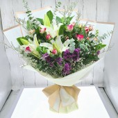 Lilies and Spray roses Bouquet