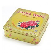 Wing Wah Red Bean Paste Moon Cake with 2 Egg Yolks