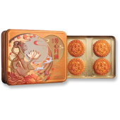 Maxim White Lotus Seed Paste Moon Cake with 2 Egg Yolks