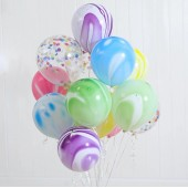 Twelve Colourful Balloons