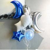 One set Moon Balloon