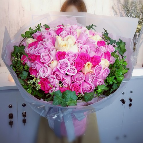 100 Roses 100 Percent Love (Color at Your Choice)
