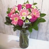 Gerberas, Roses in Vase
