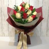 2 Tones Roses Bouquet