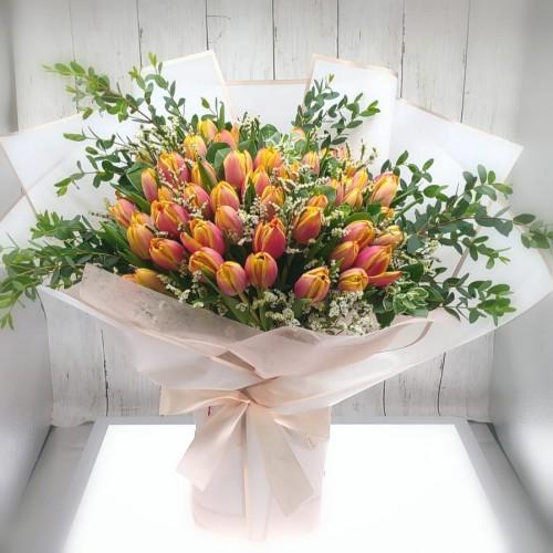 50pcs Tulips Bouquet (colour at your choice)