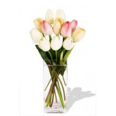 10 Mixed Tulips Vase Bouquet