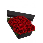24 Long Stem premium Roses Presentation Box