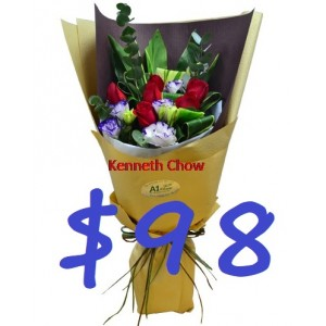 Half Dozen Red Roses Bouquet only need $98